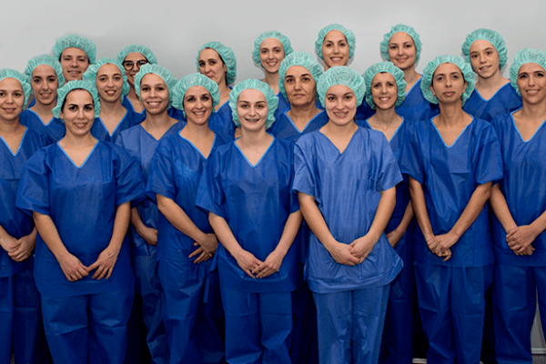 A nossa equipa do bloco operatório