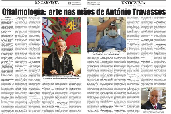 Oftalmologia: a arte nas mãos de António Travassos